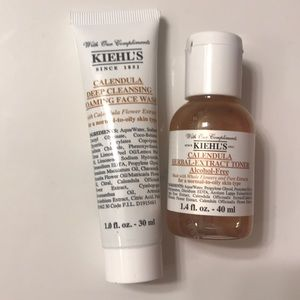 NWT kiehl's face wash and toner